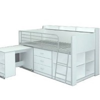Amazon.com: Rack Furniture Clairmont Loft bed,White: Home &amp; Kitchen