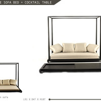 Hospitality Design Source - Sofas - Arabian Nite 4 Poster Sofa Bed