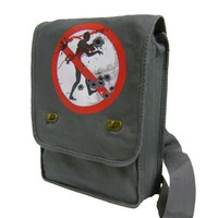 no zombies allowed gray MESSENGER / LAPTOP BAG by CraftieRobot