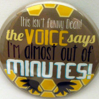 "Supernatural - Castiel Quote 2"" Pinback Button"