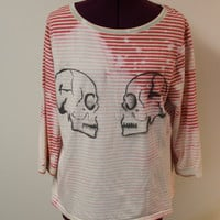 Bleached Romeo and Juliet Skull Shirt