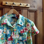 tropical shirt Hawaiian vintage  blouse womens clothing floral clothes short sleeves summer beach