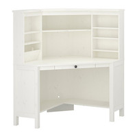 HEMNES Corner workstation - white - 102x137 cm - IKEA