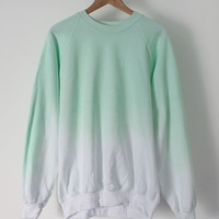 ANDCLOTHING  Mint Ice Dip Dye Sweater &lt;em&gt;COMING SOON&lt;/em&gt;