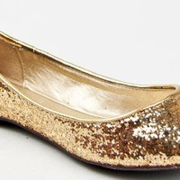 Breckelle's CHERRY-04 Metallic Glitter Slip On Basic Classic Ballet Flat
