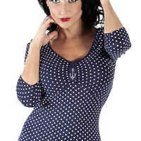 POLKA ANCHOR WANDA TOP in Tops at Sourpuss Clothing