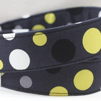 DSLR Camera Straps with Quick Release - Lolli Dot in Gray Camera Neck Strap