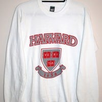 BeWorn — Vintage White University of Harvard Jumper