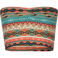 Full Tilt Cinch Front Bandeau Multi  In Sizes
