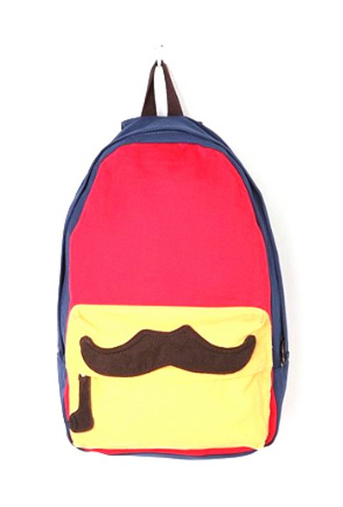 Bright Mustache Print Backpack from ELD
