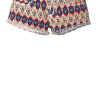 Printed Denim Short at Alloy