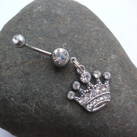 Pretty Pretty Princess Crown Belly Ring 14 by EleganceAndGrace