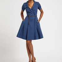 La Via 18 - A-Line Stretch Cotton Dress - Saks.com