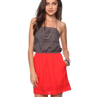 Pleated Colorblock Halter Dress | FOREVER21 - 2015036059