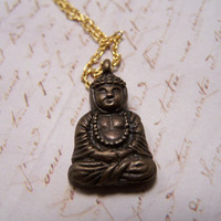 Serene Seated Buddha necklace