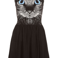 Cat Face Skater Dress - Dresses - Clothing - Topshop USA