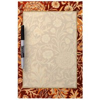 Floral in Fiery Red and Orange Dry-Erase Board from Zazzle.com