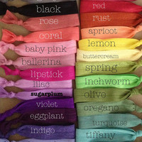 Set of 5 Softies hair ties by Opus 19 pick your colors