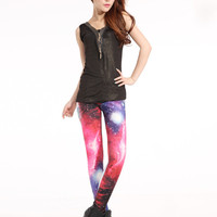 SALE Women Stylish Spandex Cool Galaxy Leggings