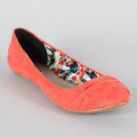 Qupid Thesis-147 Ruched Ballet Flat