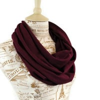 Maroon Infinity Scarf Mulberry Burgundy Circle Wine