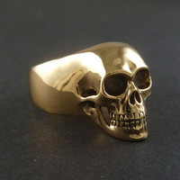 Skull Ring - Bronze Human Skull Ring