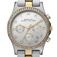 MARC BY MARC JACOBS &#x27;Henry&#x27; Chronograph &amp; Crystal Topring Watch | Nordstrom
