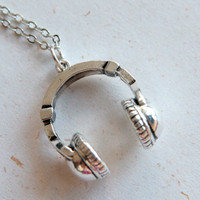 Cute headphone necklace N308 by blingDIY on Etsy