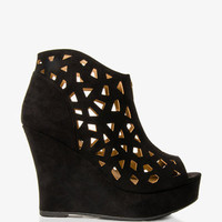 Cutout Wedge Booties | FOREVER 21 - 2028031255