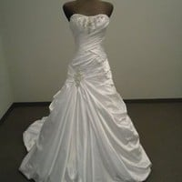 New white/ivory wedding dress custom size 2-4-6-8-10-12-14-16-18-20-22+++++