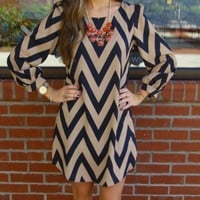 Mocha Chevron Dress Size...
