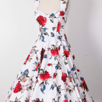 pin up  50s red rose  pr...