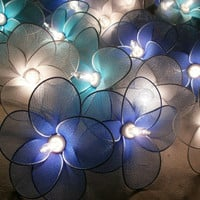 20 PCs Blue Bluesky and White nylon flower string by SmileLight