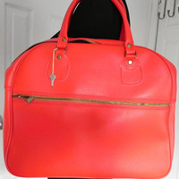 Vintage Red Hobo Tote by vintageworldrocks on Etsy