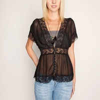 FULL TILT Lace Trim Womens Top 186365100 | blouses & shirts | Tillys.com
