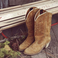 Vintage Suede Dingo Cowboy Boots, Sweet Country Clothing