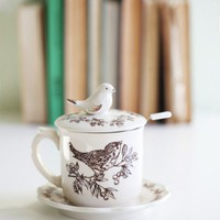 Birds Of A Feather Ceramic Teacup Set
