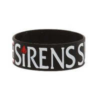 Sleeping With Sirens Flame Rubber Bracelet