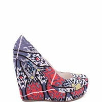 printed wedge in GREY RED | GoJane.com