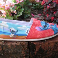 LILO AND STITCH Toms by pinstripesNparasols on Etsy
