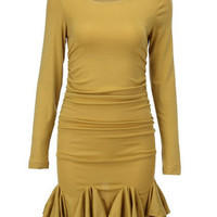 Fishtail Shaped Yellow Dress [NCSKD0050] - &amp;#36;39.00 :