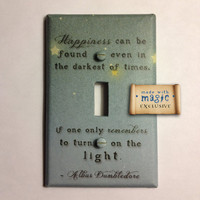 Harry Potter Inspired &quot;Turn On The Light&quot; Switch plate