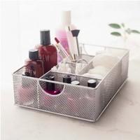 Amazon.com: Design Ideas Mesh File Vanity Organizer/Tray, Silver: Home &amp; Kitchen