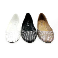 PU Upper Flat Closed-toes With Sequin Casual Shoes - $29.88