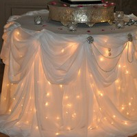 Wedding Ideas / lights under the table. Great idea!