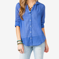 Round Collar Sheer Shirt