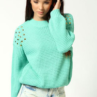 Lucy Studded Fisherman Jumper