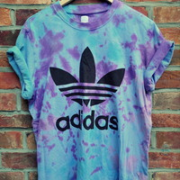 Cryptic Cult — vintage tie dye ADIDAS originals trefoil t shirt