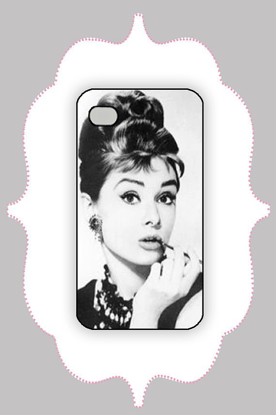 iPhone Case- Audrey Hepburn- iPhone 4 Case, iPhone 4s Case, iPhone 5 Case, Monogram Case, Personalized iPhone Case