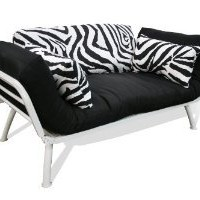 Amazon.com: American Furniture Alliance Modern Loft Collection Futon Mali Flex Combo, Zebra Print: Home &amp; Kitchen